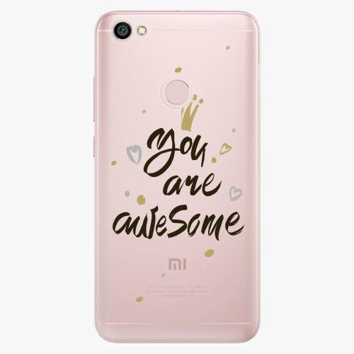 Silikonové pouzdro iSaprio - You Are Awesome black na mobil Xiaomi Redmi Note 5A / 5A Prime