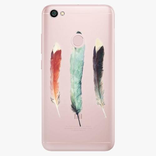 Silikonové pouzdro iSaprio - Three Feathers na mobil Xiaomi Redmi Note 5A / 5A Prime
