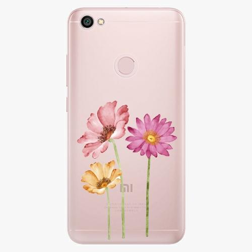 Silikonové pouzdro iSaprio - Three Flowers na mobil Xiaomi Redmi Note 5A / 5A Prime