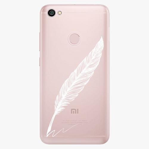 Silikonové pouzdro iSaprio - Writing By Feather white na mobil Xiaomi Redmi Note 5A / 5A Prime