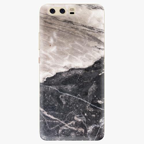 Silikonové pouzdro iSaprio - BW Marble na mobil Huawei P10