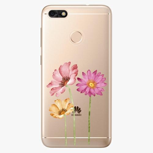 Silikonové pouzdro iSaprio - Three Flowers na mobil Huawei P9 Lite Mini