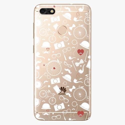 Silikonové pouzdro iSaprio - Vintage Pattern 01 white na mobil Huawei P9 Lite Mini