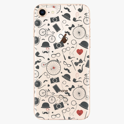 Silikonové pouzdro iSaprio - Vintage Pattern 01 black na mobil Apple iPhone 8