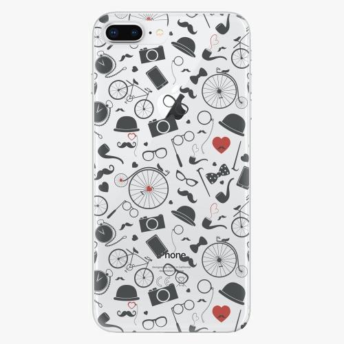 Silikonové pouzdro iSaprio - Vintage Pattern 01 black na mobil Apple iPhone 8 Plus