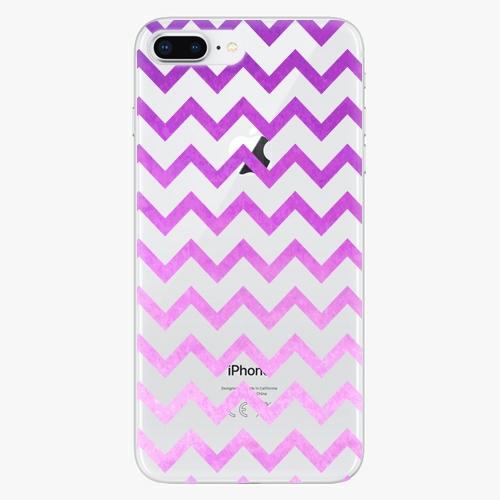 Silikonové pouzdro iSaprio - Zigzag purple na mobil Apple iPhone 8 Plus