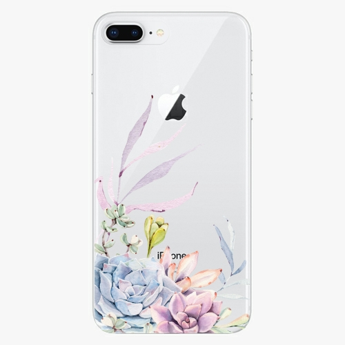 Silikonové pouzdro iSaprio - Succulent 01 na mobil Apple iPhone 8 Plus