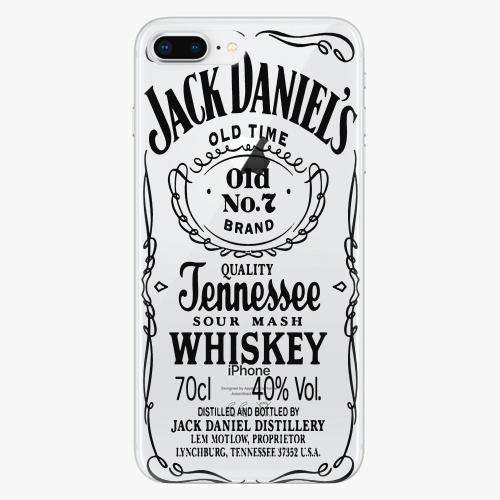 Silikonové pouzdro iSaprio - Transparent Black Jack na mobil Apple iPhone 8 Plus