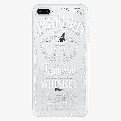 Silikonové pouzdro iSaprio - Transparent White Jack na mobil Apple iPhone 8 Plus