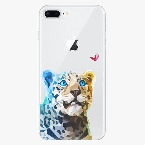 Silikonové pouzdro iSaprio - Leopard With Butterfly na mobil Apple iPhone 8 Plus