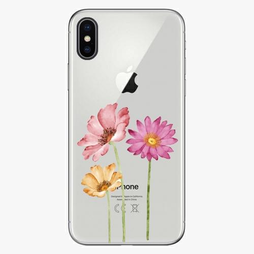 Silikonové pouzdro iSaprio - Three Flowers na mobil Apple iPhone X