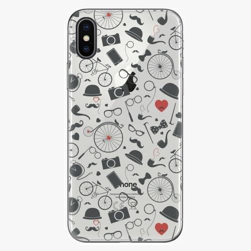 Silikonové pouzdro iSaprio - Vintage Pattern 01 black na mobil Apple iPhone X