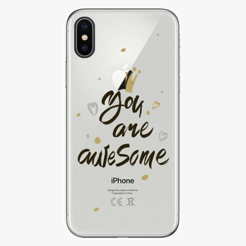 Silikonové pouzdro iSaprio - You Are Awesome black na mobil Apple iPhone X