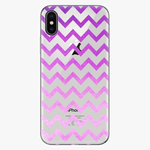Silikonové pouzdro iSaprio - Zigzag purple na mobil Apple iPhone X