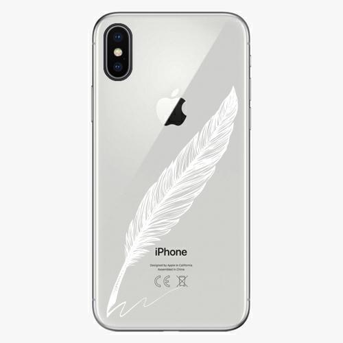 Silikonové pouzdro iSaprio - Writing By Feather white na mobil Apple iPhone X