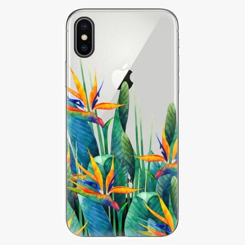 Silikonové pouzdro iSaprio - Exotic Flowers na mobil Apple iPhone X
