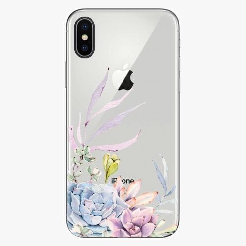Silikonové pouzdro iSaprio - Succulent 01 na mobil Apple iPhone X