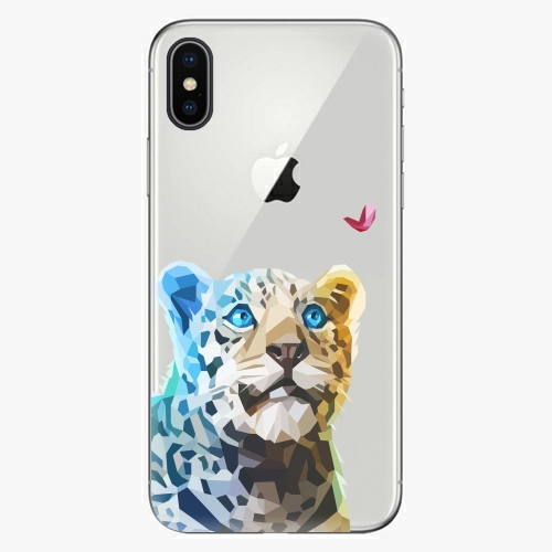 Silikonové pouzdro iSaprio - Leopard With Butterfly na mobil Apple iPhone X