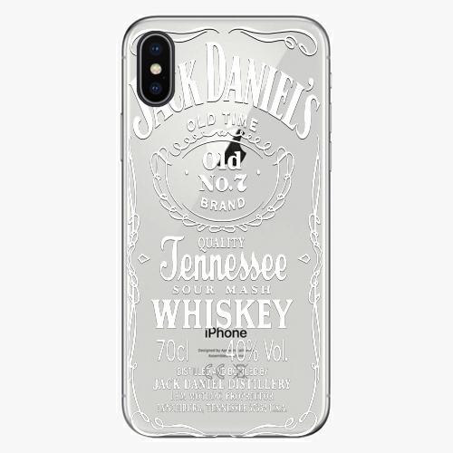 Silikonové pouzdro iSaprio - Transparent White Jack na mobil Apple iPhone X