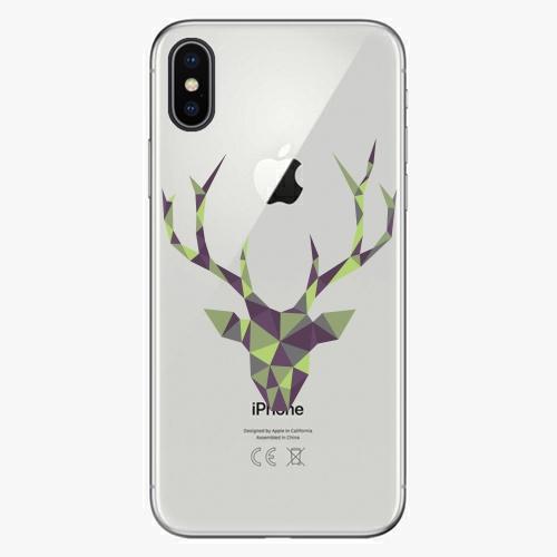 Silikonové pouzdro iSaprio - Deer Green na mobil Apple iPhone X