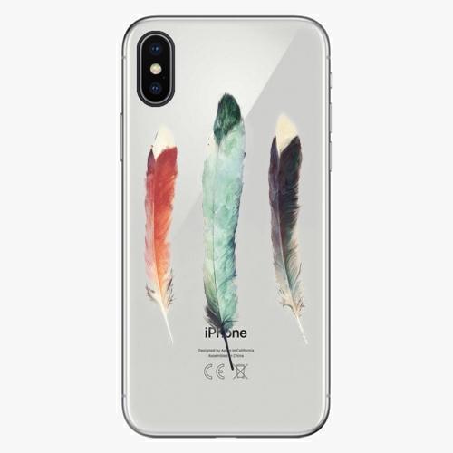 Silikonové pouzdro iSaprio - Three Feathers na mobil Apple iPhone X