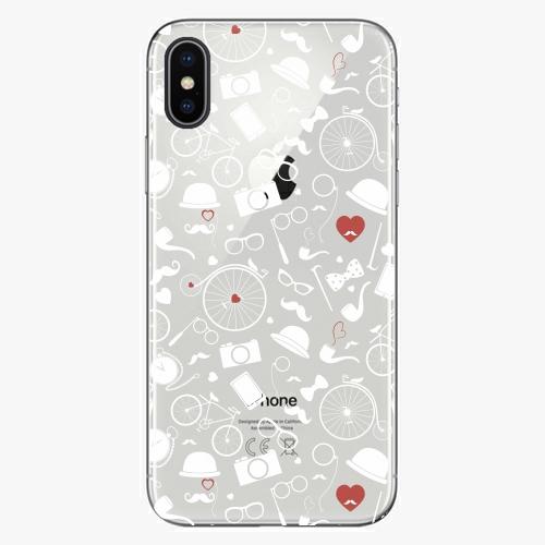 Silikonové pouzdro iSaprio - Vintage Pattern 01 white na mobil Apple iPhone X