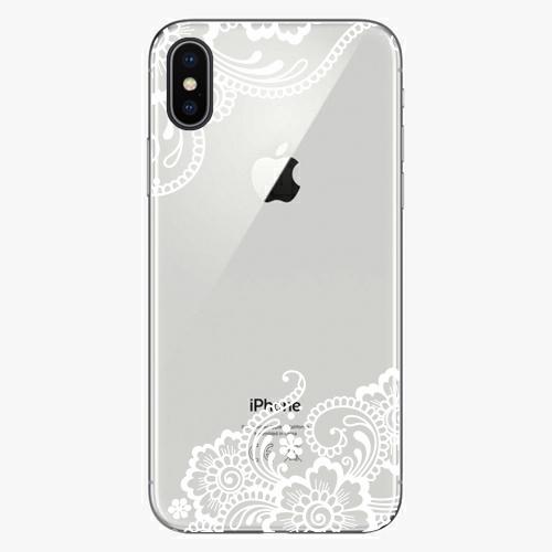 Silikonové pouzdro iSaprio - White Lace 02 na mobil Apple iPhone X