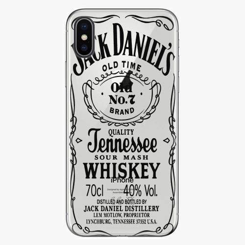Silikonové pouzdro iSaprio - Transparent Black Jack na mobil Apple iPhone X