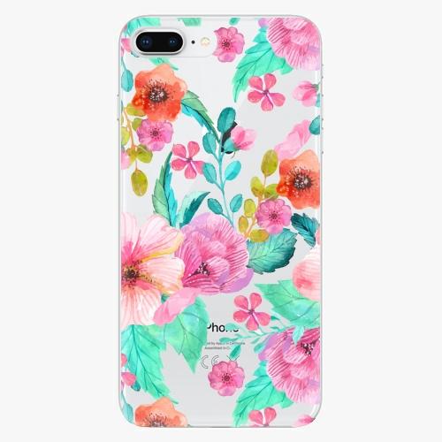 Silikonové pouzdro iSaprio - Flower Pattern 01 na mobil Apple iPhone 8 Plus