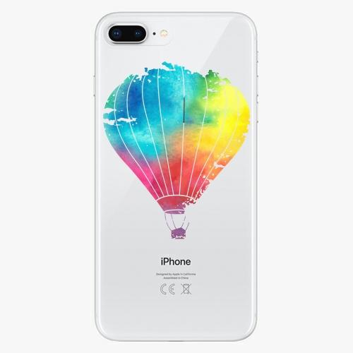 Silikonové pouzdro iSaprio - Flying Baloon 01 na mobil Apple iPhone 8 Plus