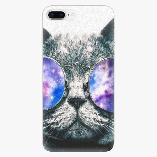 Silikonové pouzdro iSaprio - Galaxy Cat na mobil Apple iPhone 8 Plus