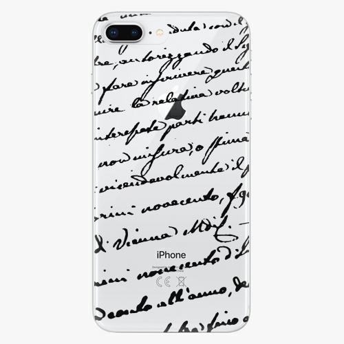 Silikonové pouzdro iSaprio - Handwriting 01 black na mobil Apple iPhone 8 Plus