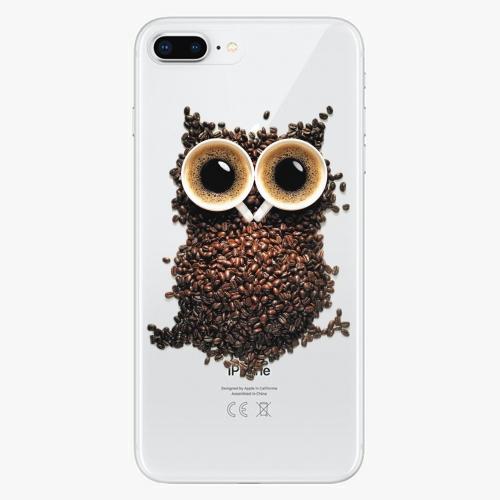 Silikonové pouzdro iSaprio - Owl And Coffee na mobil Apple iPhone 8 Plus