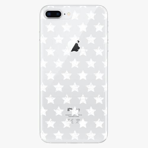 Silikonové pouzdro iSaprio - Stars Pattern white na mobil Apple iPhone 8 Plus