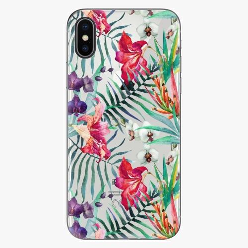 Silikonové pouzdro iSaprio - Flower Pattern 03 na mobil Apple iPhone X