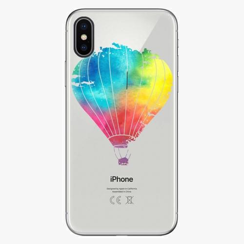 Silikonové pouzdro iSaprio - Flying Baloon 01 na mobil Apple iPhone X