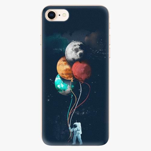 Silikonové pouzdro iSaprio - Balloons 02 na mobil Apple iPhone 8