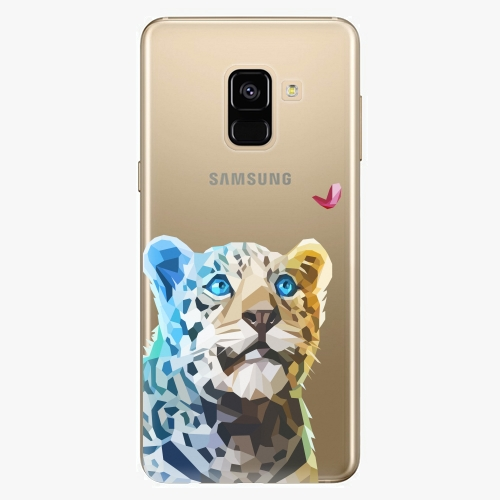 Silikonové pouzdro iSaprio - Leopard With Butterfly na mobil Samsung Galaxy A8 2018