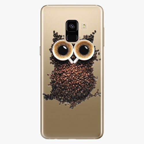 Silikonové pouzdro iSaprio - Owl And Coffee na mobil Samsung Galaxy A8 2018