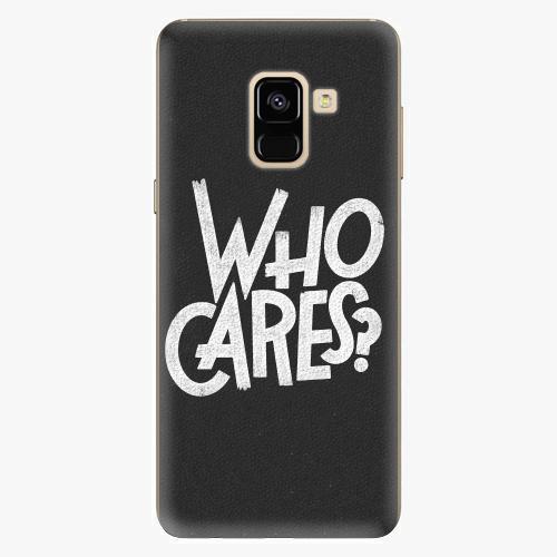 Silikonové pouzdro iSaprio - Who Cares na mobil Samsung Galaxy A8 2018