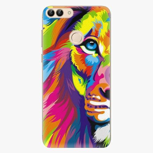 Silikonové pouzdro iSaprio - Rainbow Lion na mobil Huawei P Smart
