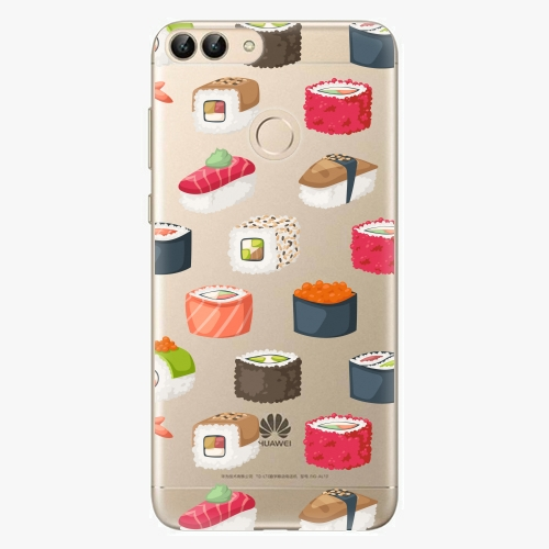 Silikonové pouzdro iSaprio - Sushi Pattern na mobil Huawei P Smart