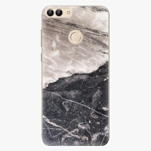 Silikonové pouzdro iSaprio - BW Marble na mobil Huawei P Smart