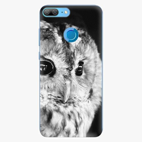 Silikonové pouzdro iSaprio - BW Owl na mobil Honor 9 Lite