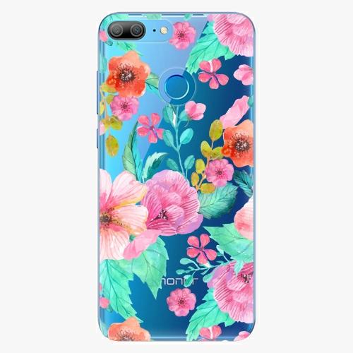 Silikonové pouzdro iSaprio - Flower Pattern 01 na mobil Honor 9 Lite