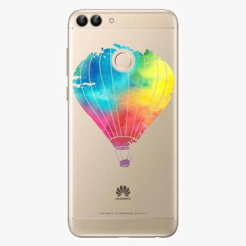 Silikonové pouzdro iSaprio - Flying Baloon 01 na mobil Huawei P Smart