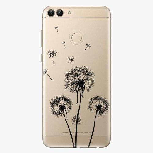 Silikonové pouzdro iSaprio - Three Dandelions black na mobil Huawei P Smart