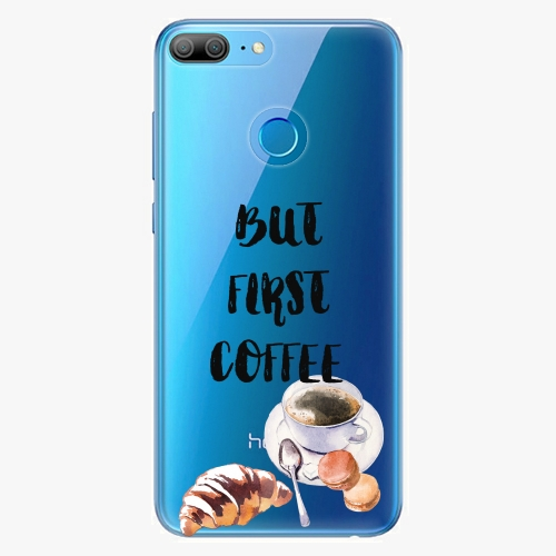 Silikonové pouzdro iSaprio - First Coffee na mobil Honor 9 Lite