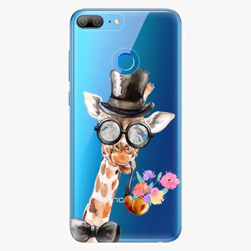 Silikonové pouzdro iSaprio - Sir Giraffe na mobil Honor 9 Lite