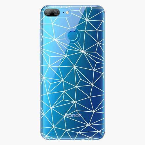 Silikonové pouzdro iSaprio - Abstract Triangles 03 white na mobil Honor 9 Lite
